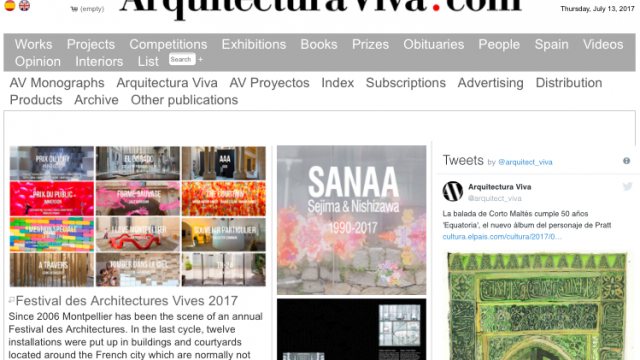 THE CURTAIN IN ARQUITECTURA VIVA AND DOMUS